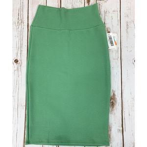 LuLaRoe Cassie XS Spring Green Pencil Skirt NWT